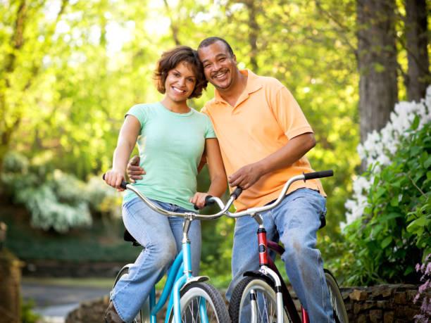 Bicycle Couple stock photo