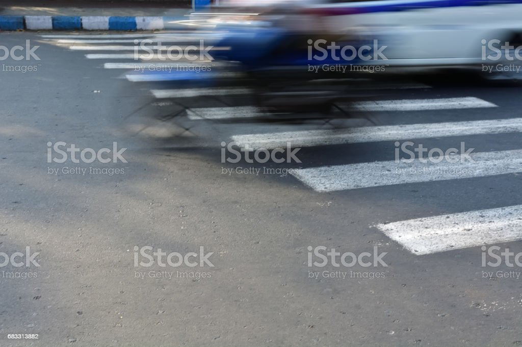 Bicycle crossing foto stock royalty-free