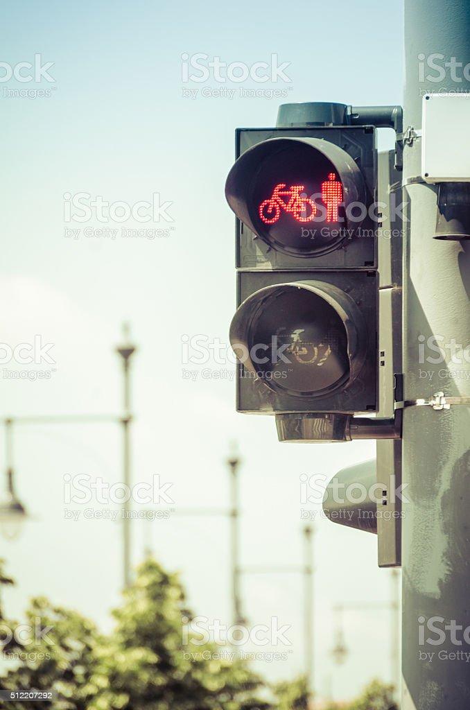 Bicycle Crosswalk Light stock photo