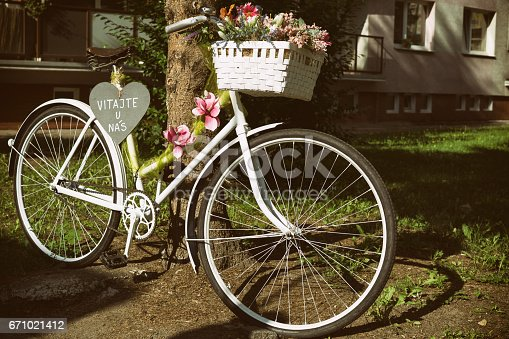 istock Bicycle decoration 671021412