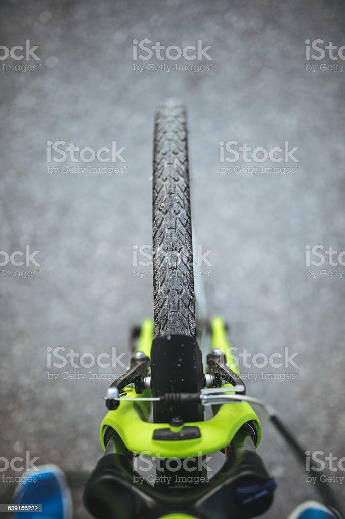 Bicycle detail stock photo