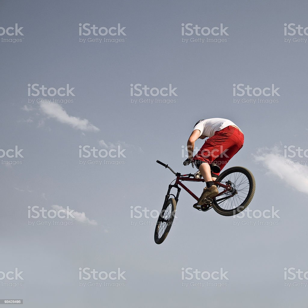 bicycle dirt jump royalty-free stock photo