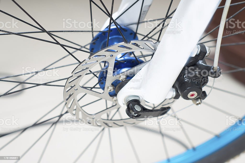 Bicycle disc brake tablets stock photo