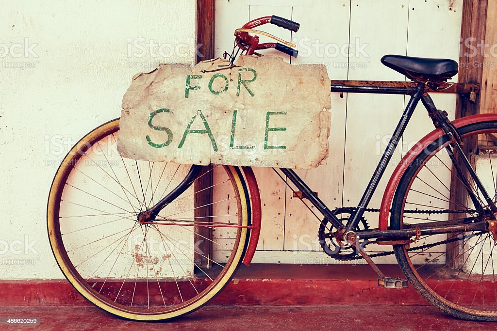 Bicycle for sale stock photo