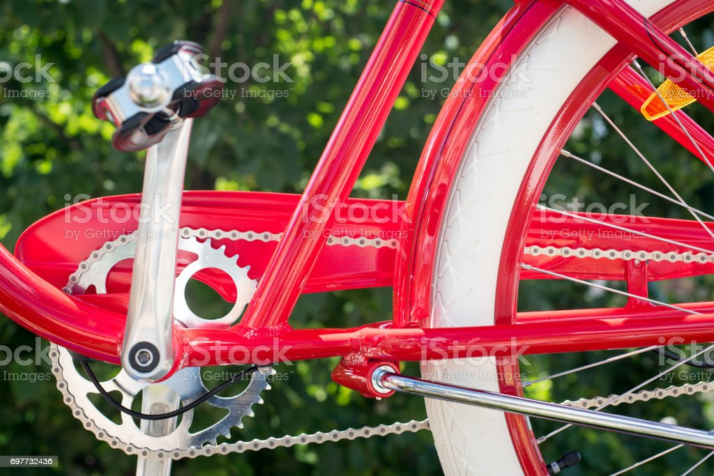 Bicycle frame concept of ecological means of transport and healthy lifestyle stock photo