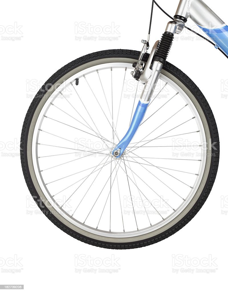 Bicycle Front Wheel stock photo