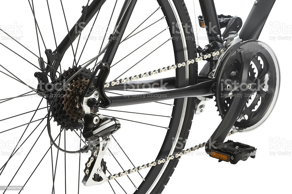 Bicycle Gear and Pedals royalty-free stock photo
