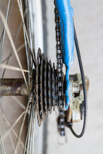 Bicycle Gear Cassette With Chain stock photo