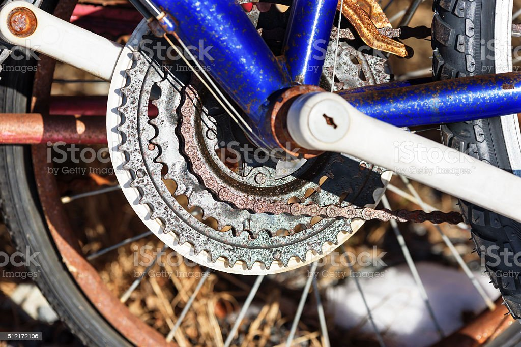 Bicycle gearing stock photo