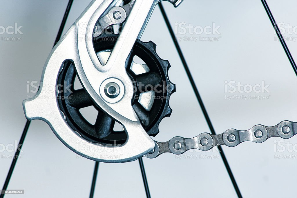 Bicycle Gears and Components royalty-free stock photo