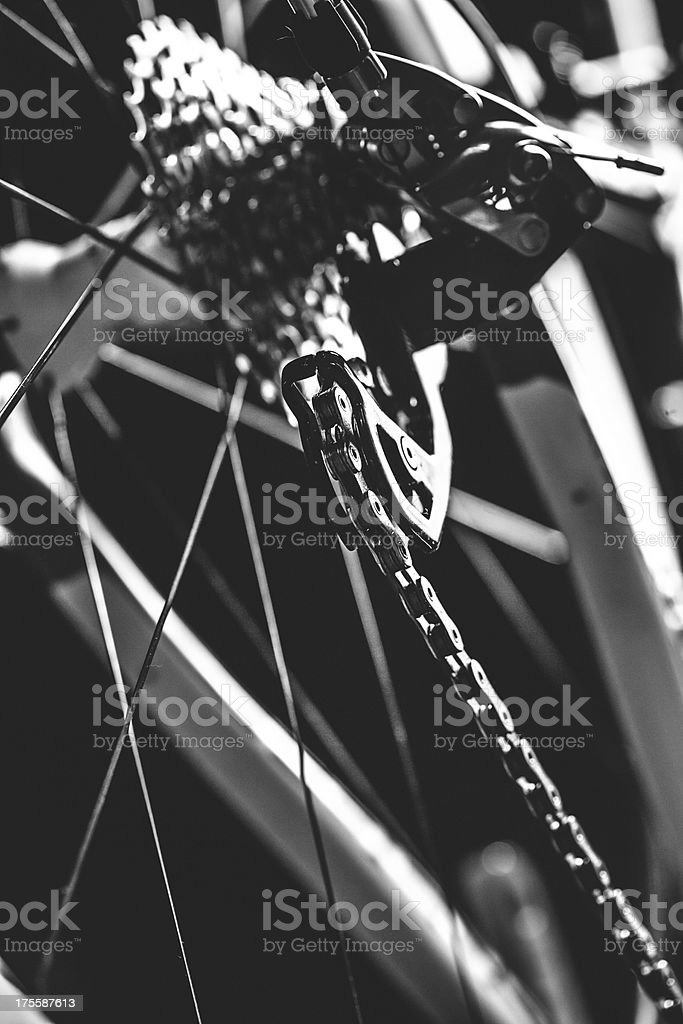 Bicycle Gears and Derailleur royalty-free stock photo