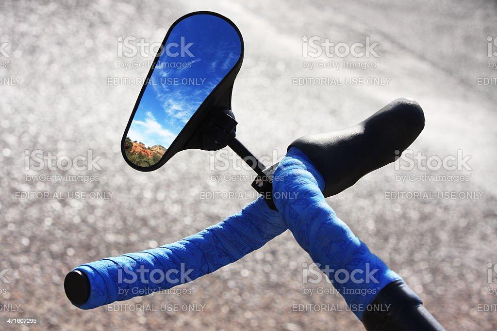 Bicycle Handlebar Side-View Mirror royalty-free stock photo