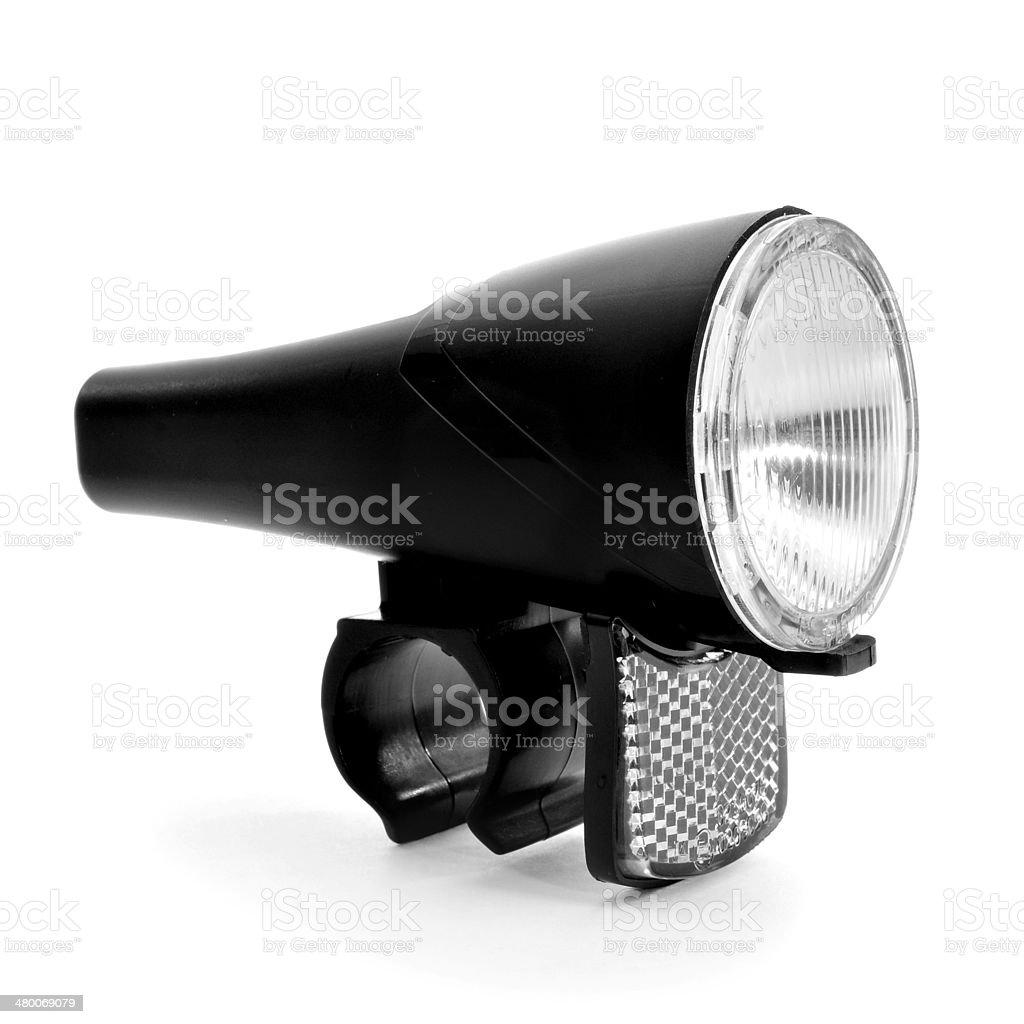bicycle headlight stock photo