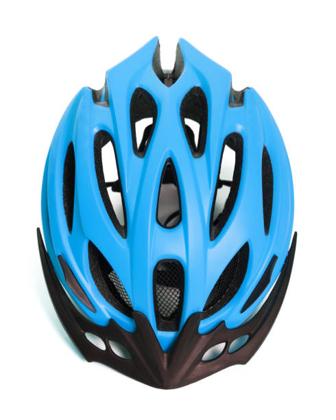 Bicycle helmet isolated on white background - foto stock