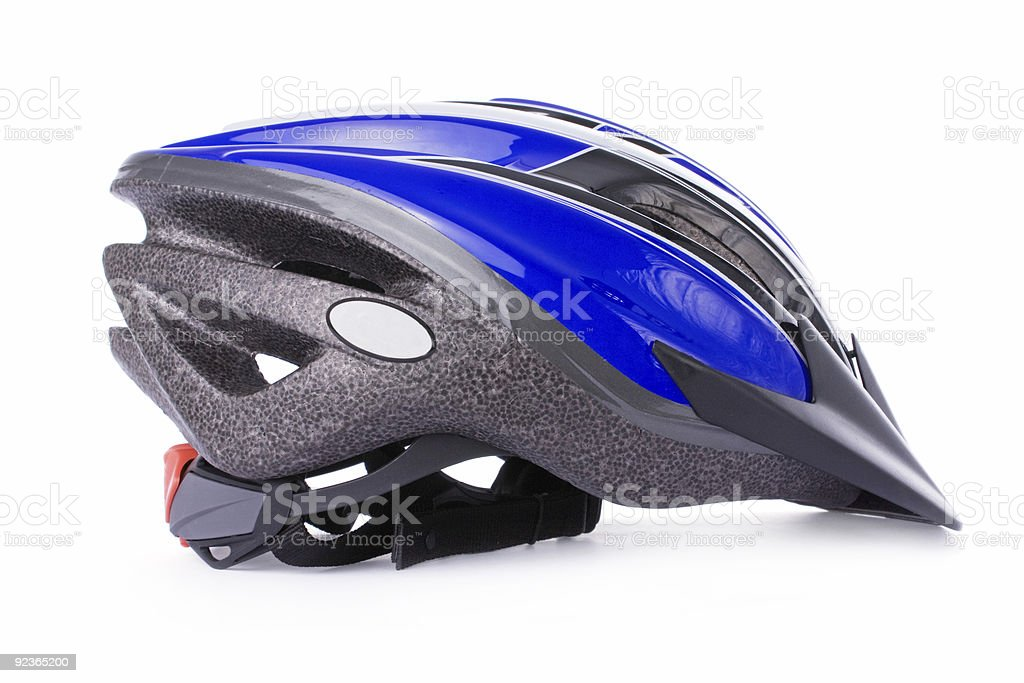 Bicycle helmet isolated on white royalty-free stock photo