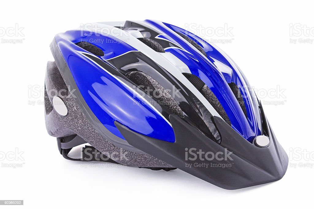 Bicycle helmet isolated on white stock photo