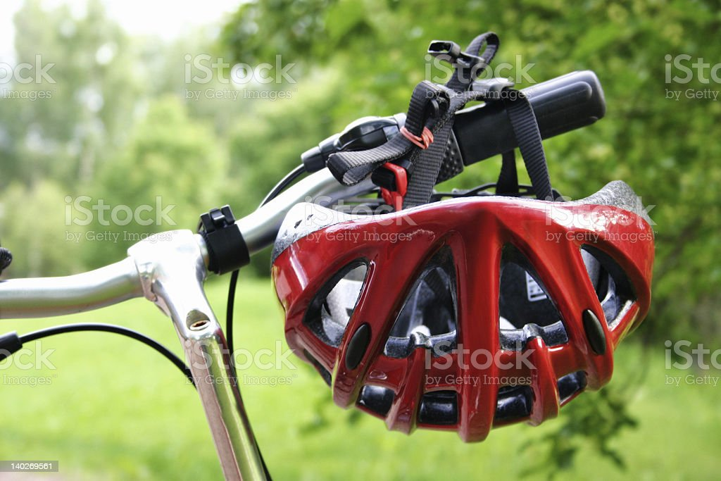 Bicycle helmet royalty-free stock photo