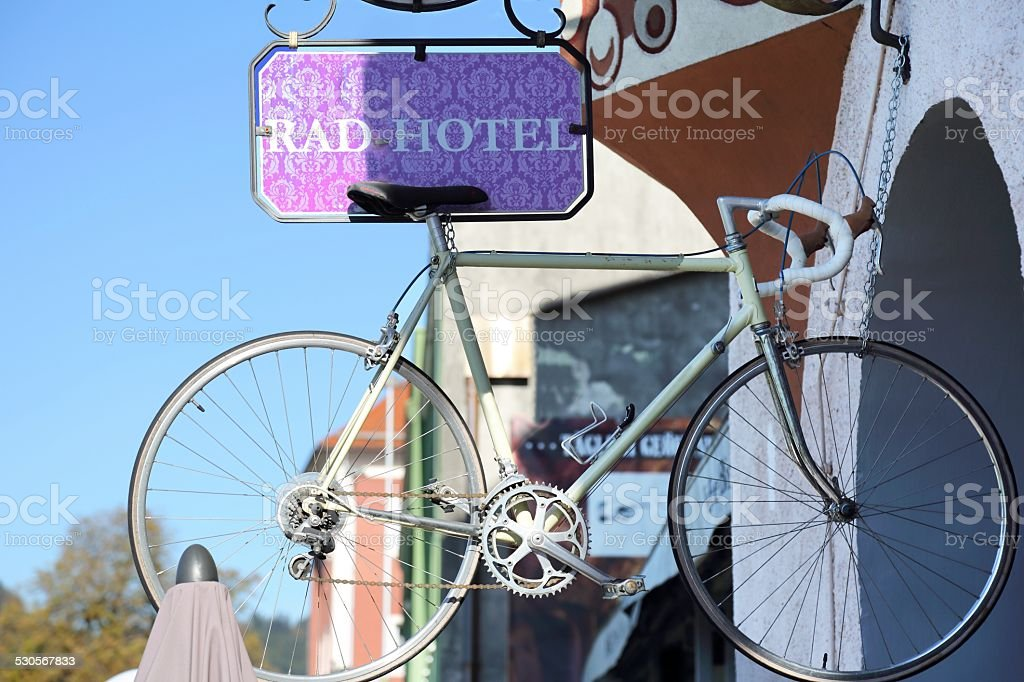 Bicycle hotel stock photo