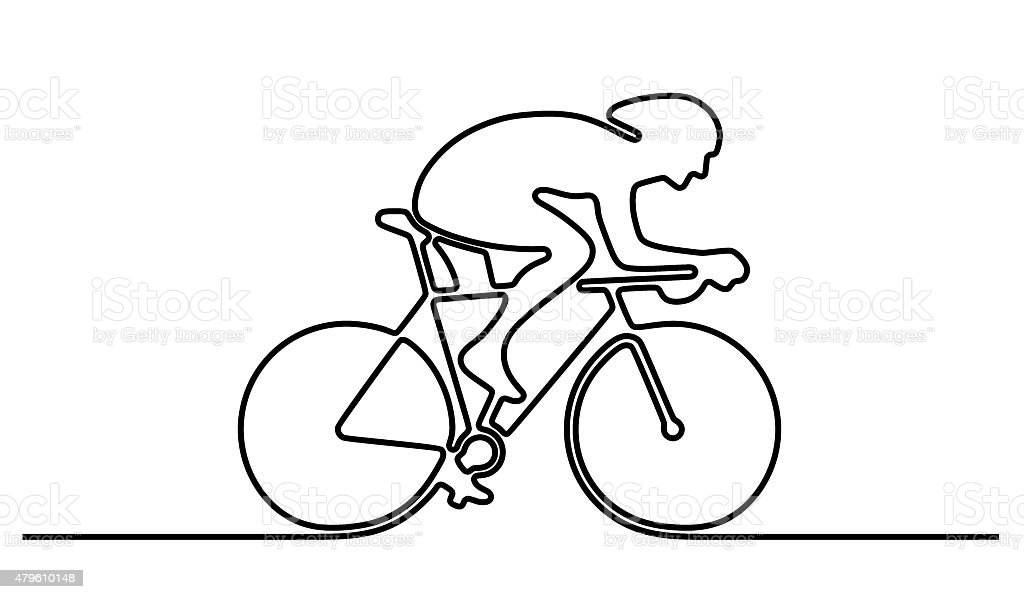 Bicycle icon (clip art) stock photo