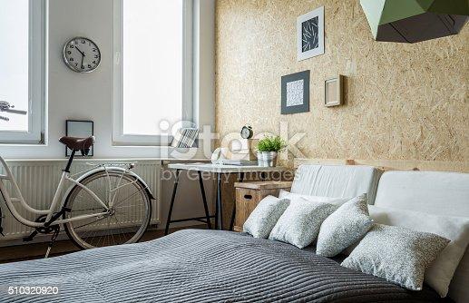 istock Bicycle in bedroom 510320920