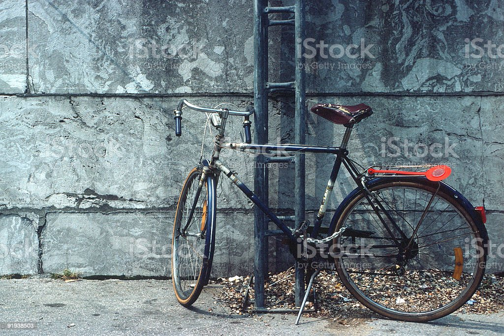 Bicycle in Paris royalty-free stock photo