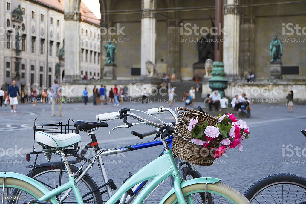 Bicycle in the City 17 stock photo