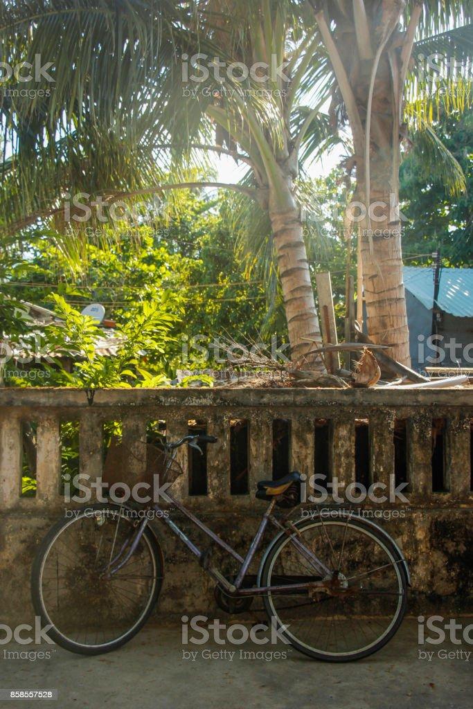Bicycle in Vietnam stock photo