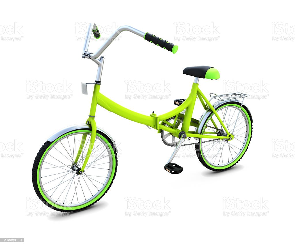 Bicycle isolated on white background stock photo