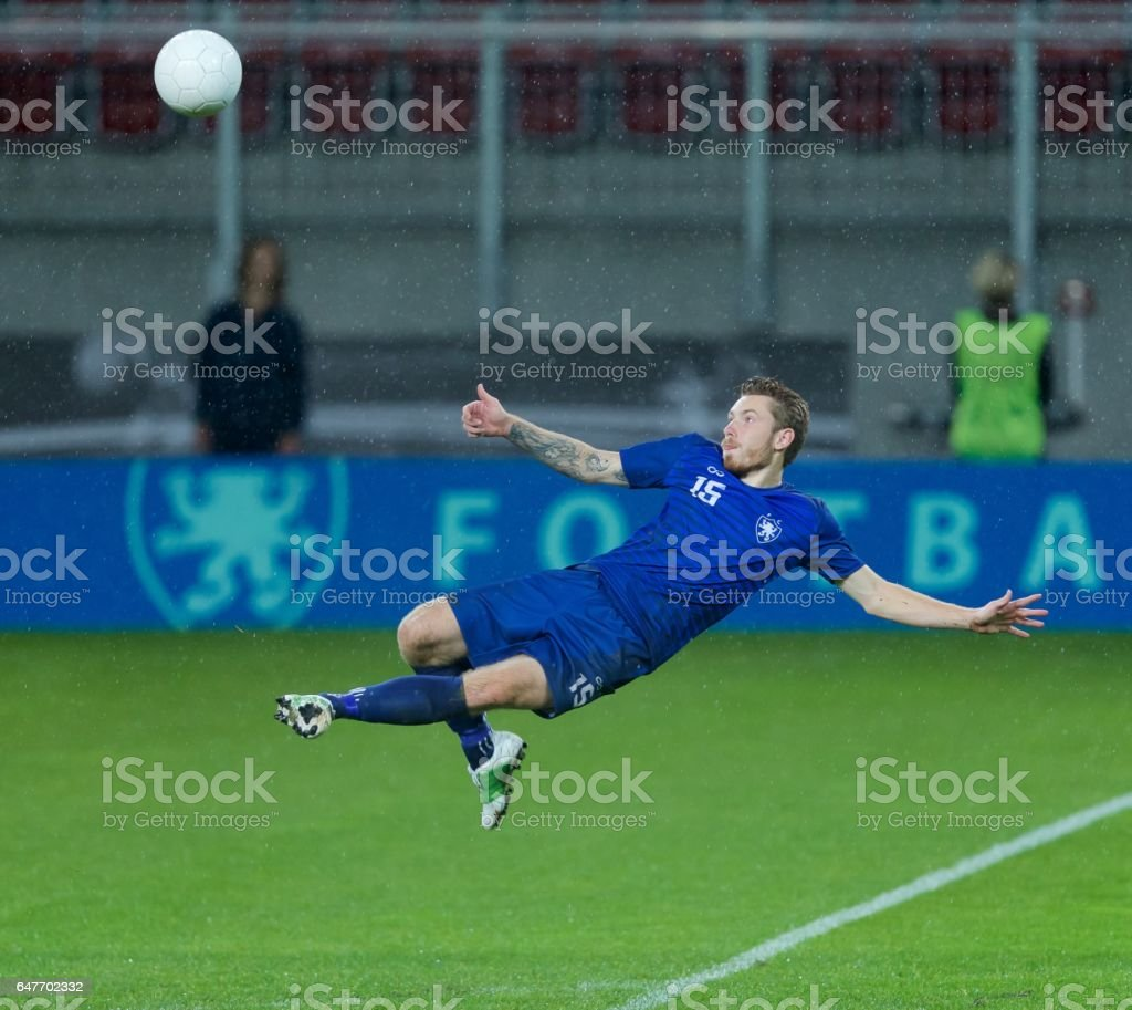 Bicycle kick stock photo