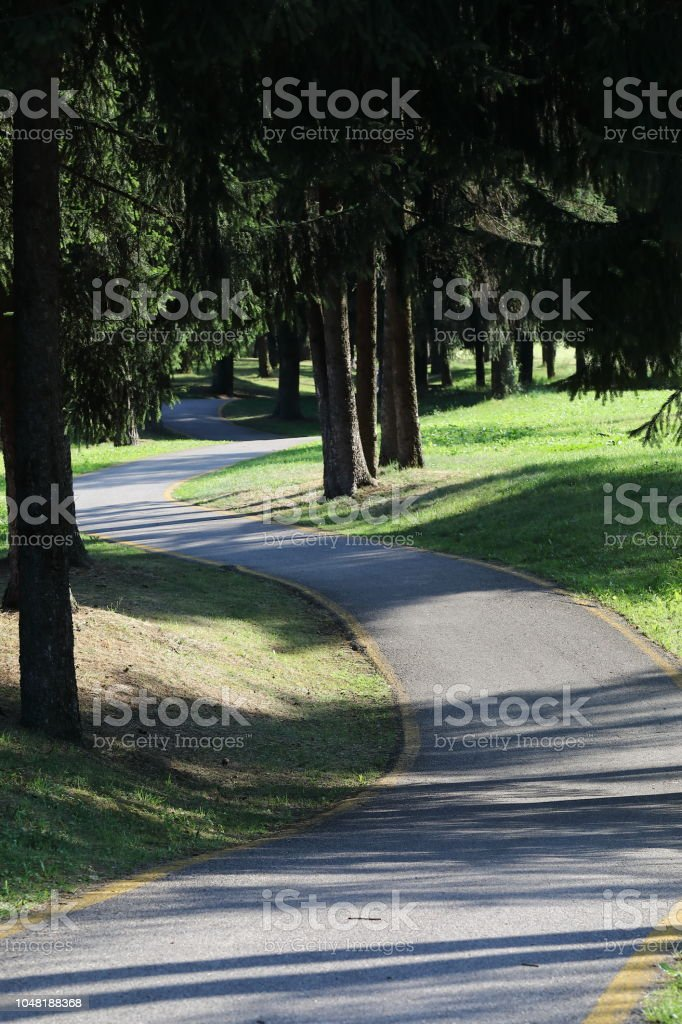 bicycle lane, pista ciclabile - foto stock