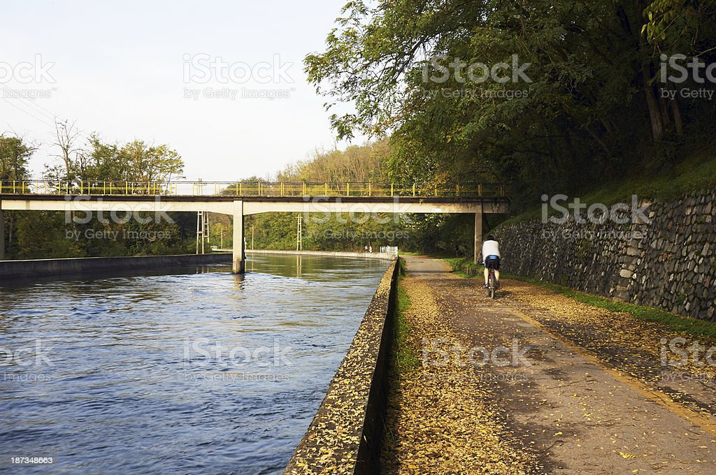 Bicycle Lane. Color Image royalty-free stock photo