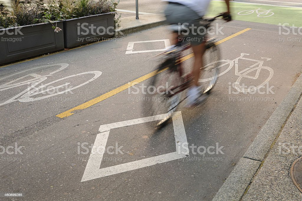 Bicycle Lane, Downtown Vancouver stock photo