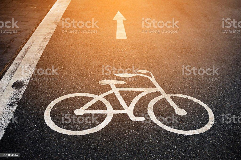 Bicycle lane stock photo