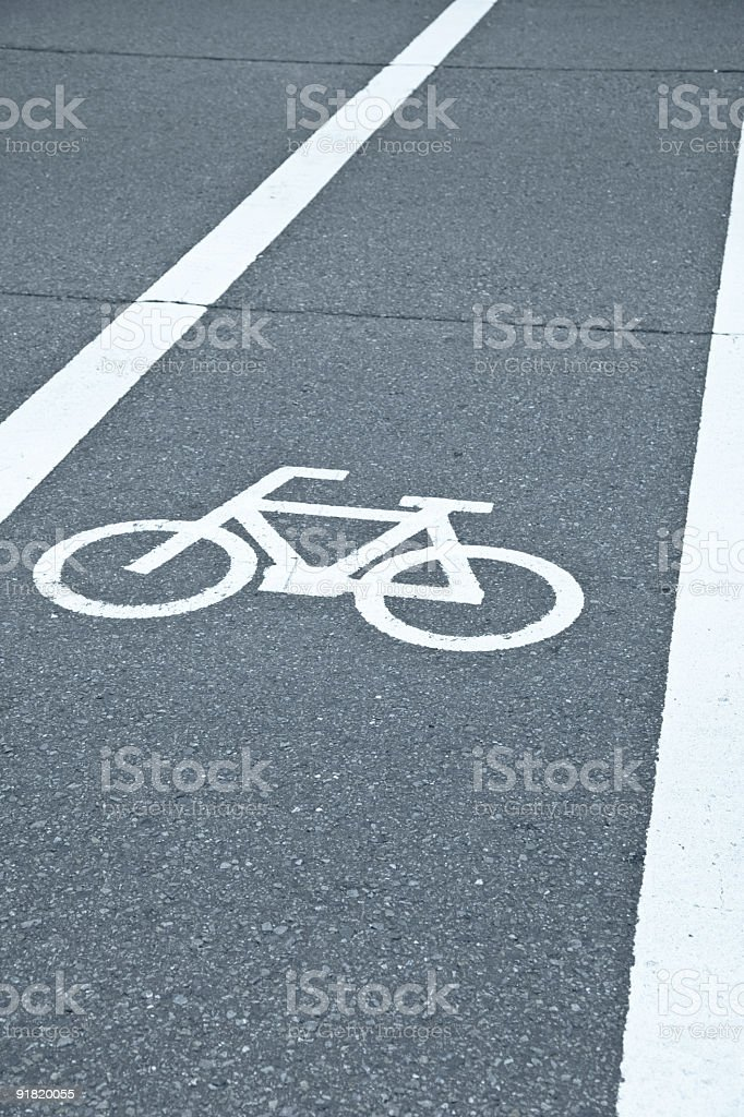 bicycle lane royalty-free stock photo