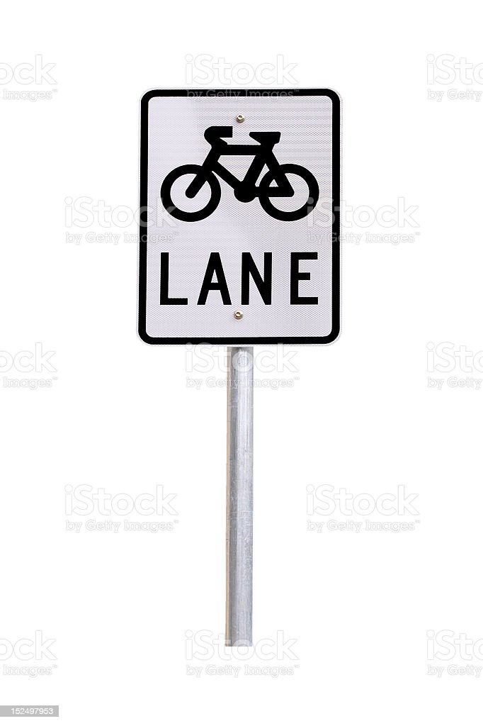 Bicycle Lane Traffic Sign - Australian royalty-free stock photo