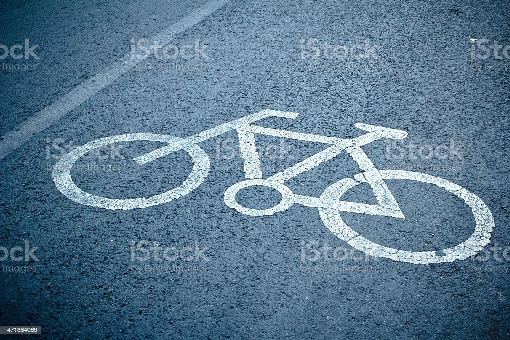 Bicycle lanes stock photo