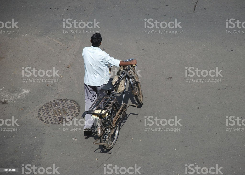 Bicycle man royalty-free stock photo
