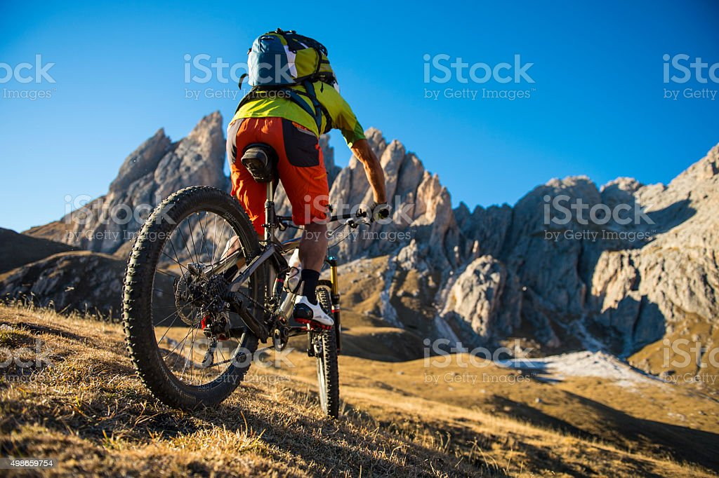 Bicycle mountain holidays stock photo