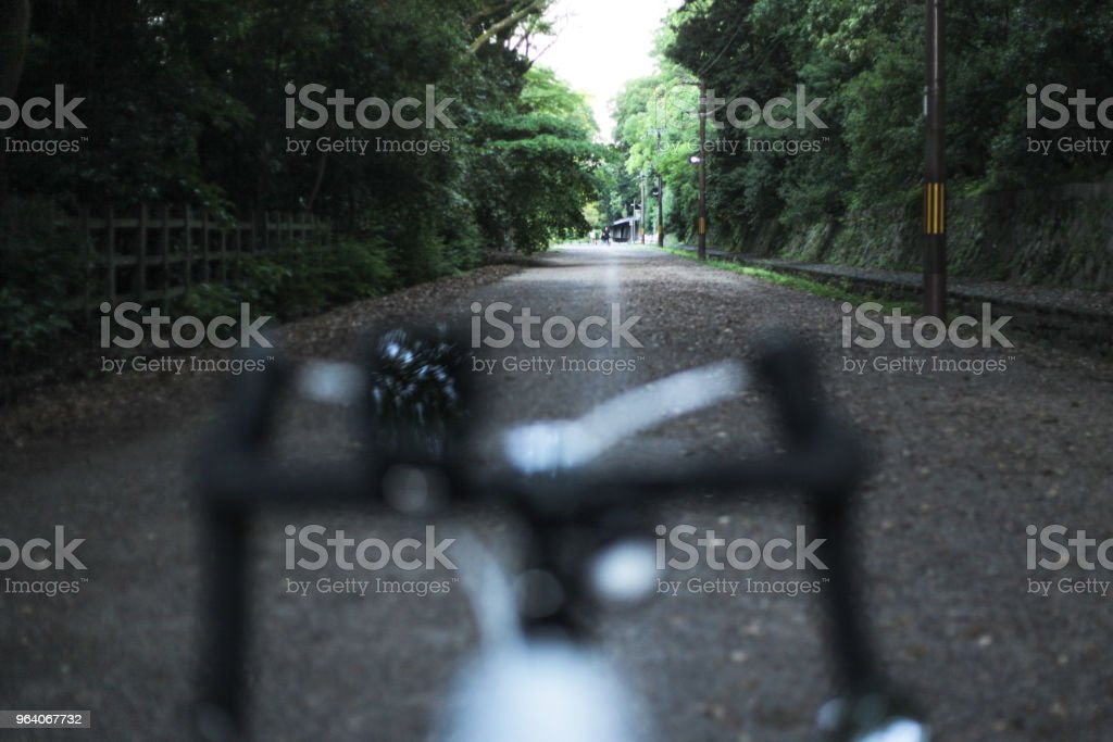 Bicycle on bike path, Kyoto - Royalty-free Bicycle Stock Photo