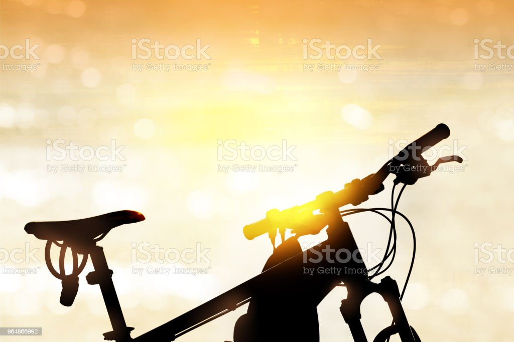 Bicycle on the beach. royalty-free stock photo