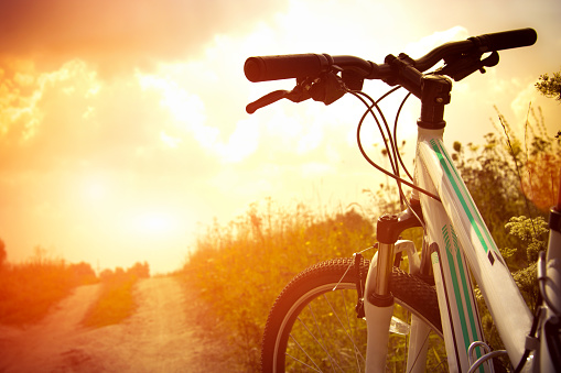 Bicycle On The Road Stock Photo - Download Image Now