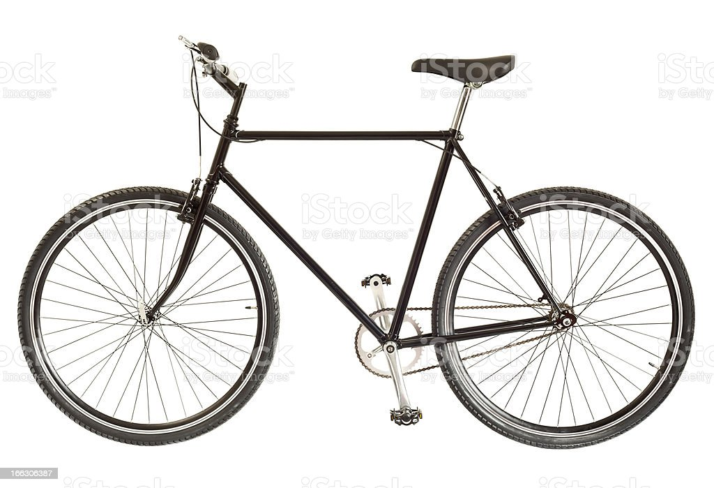 Bicycle On White royalty-free stock photo