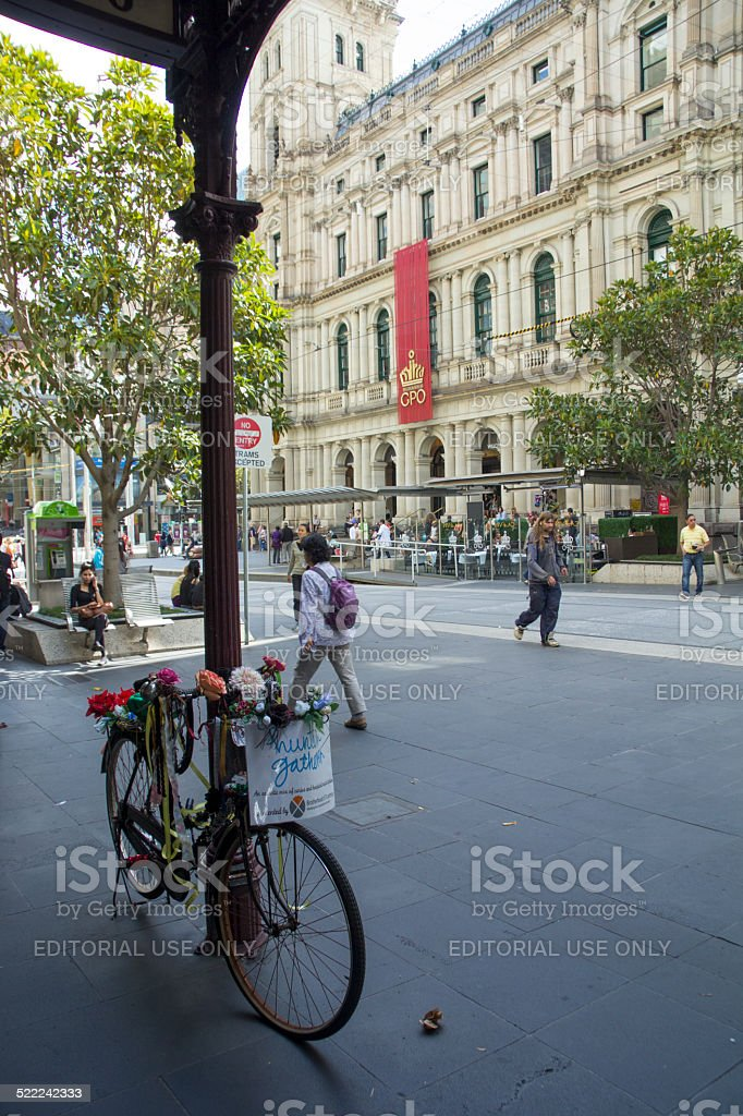 Bicycle outside GPO stock photo