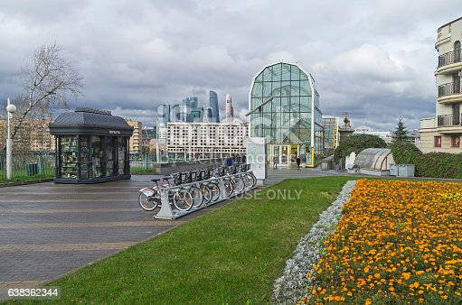 Bicycle Parking Moscow Stock Photo & More Pictures of Architecture