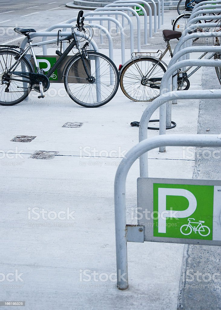 Bicycle parking royalty-free stock photo