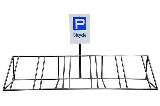 fahrrad parken - fahrradhalter stock-fotos und bilder