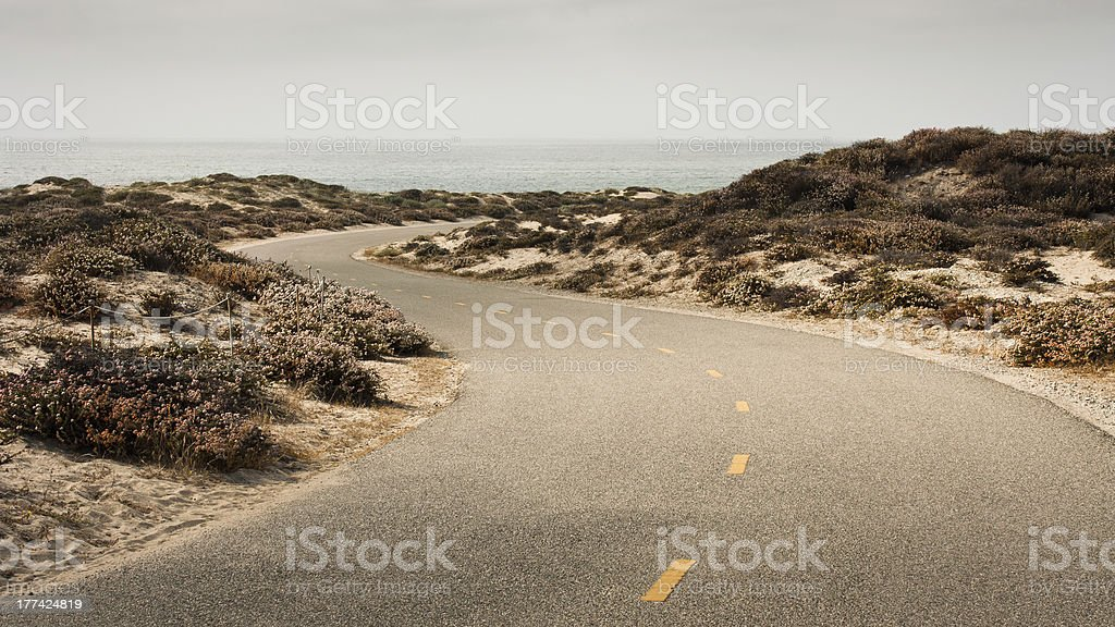 Bicycle Path S-Curve royalty-free stock photo