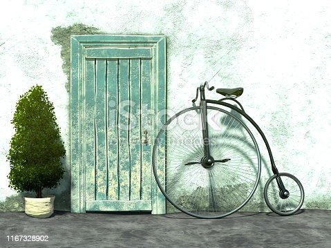 3D illustration of bicycle