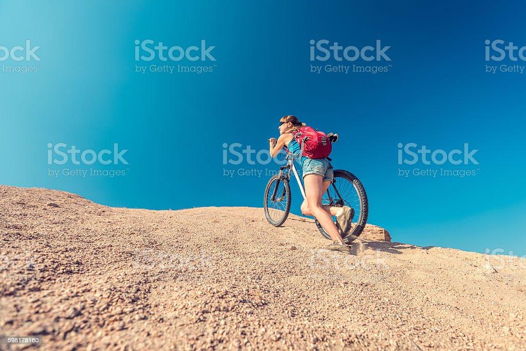 De bicicleta  foto royalty-free