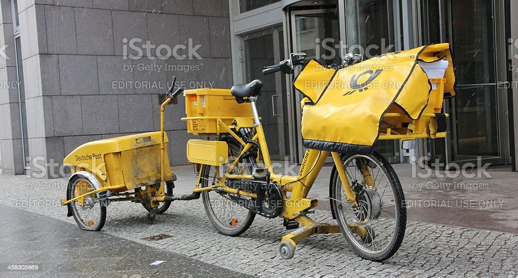 Bicycle Post royalty-free stock photo